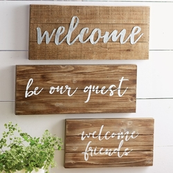 Welcome Friends Plaque from your Sebring, Florida florist