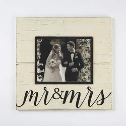 Mud Pie Mr and Mrs Picture Frame from your Sebring, Florida florist