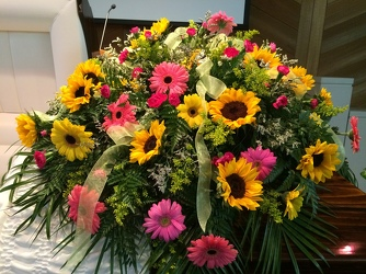 Gerbera Casket Spray from your Sebring, Florida florist