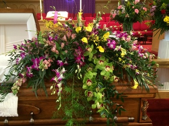 Orchid Casket Spray from your Sebring, Florida florist
