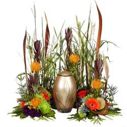 Outdoorsman Urn Arrangement from your Sebring, Florida florist