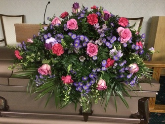 Pink and Lavender Casket Spray from your Sebring, Florida florist