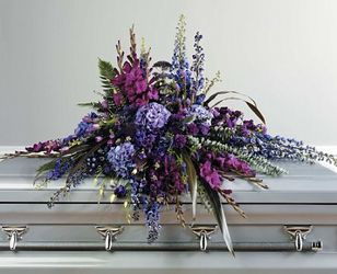 Purple Casket Spray from your Sebring, Florida florist