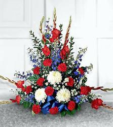 Red White And Blue Fireside Basket from your Sebring, Florida florist