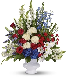 Red White And Blue Vase Arrangement from your Sebring, Florida florist