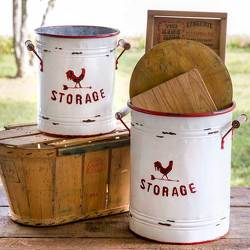 Rooster Storage Tins from your Sebring, Florida florist