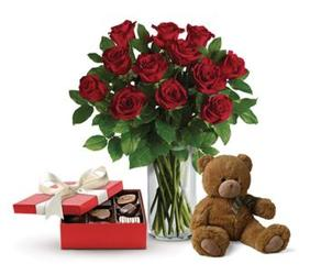 Roses and Chocolates and a Bear from your Sebring, Florida florist
