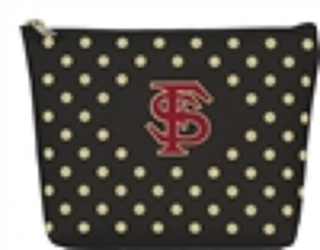 FSU Polka Dot Pouch from your Sebring, Florida florist