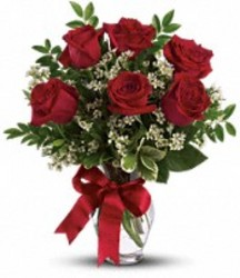 Six Red Roses Arranged from your Sebring, Florida florist