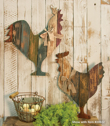 Wood Slat Rooster from your Sebring, Florida florist