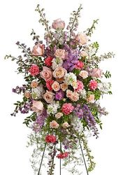 Standing Spray Lavender White Pink from your Sebring, Florida florist