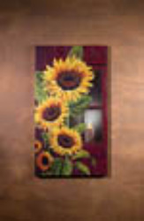 Large Lighted Sunflower With Timer