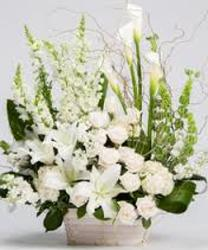Basket of whitte from your Sebring, Florida florist