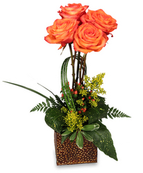 Topiary Of Orange Roses from your Sebring, Florida florist