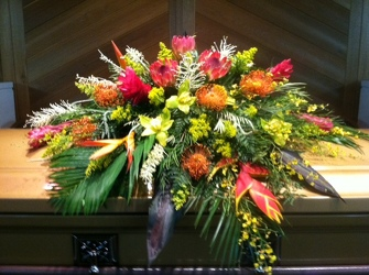 Tropical Casket Spray from your Sebring, Florida florist