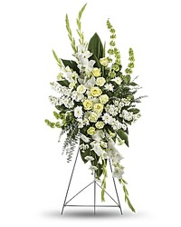 Standing Spray of White from your Sebring, Florida florist
