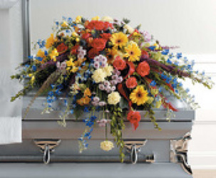 Wildflower Casket Spray from your Sebring, Florida florist