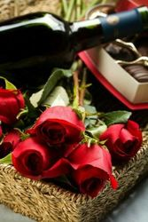 Wine Roses and Chocolates from your Sebring, Florida florist